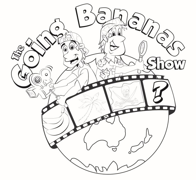 Going Bananas Colouring Page1