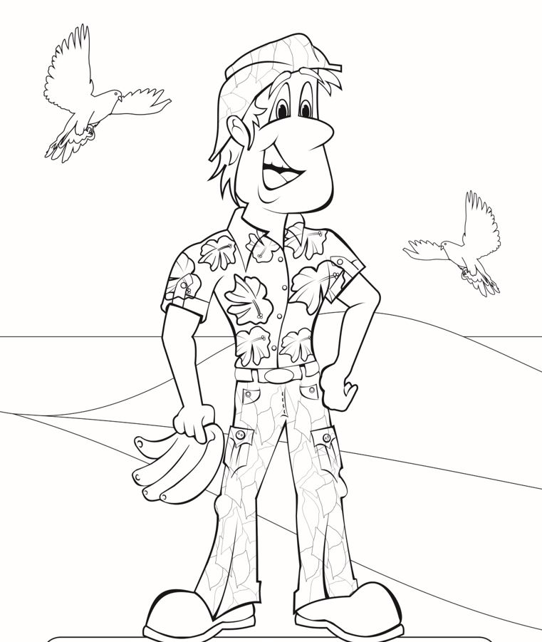 Going Bananas Colouring Page3